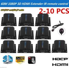 LOT HDMI Extender Over Single Cat6 200FT IR Repeater CAT5e/6 Receiver 1080P OY