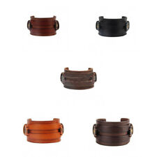 Women Men Punk PU Leather Bangle Wristband Cuff Bracelet Biker Chic Jewelry
