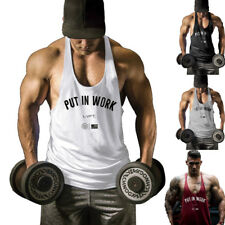 Fashion cotton Gyms tank top Men Sleeveless Boys bodybuilding  vest undershirt