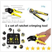 Functional JX-D4301 Ratchet Crimping Tool Wire Strippers Terminals Pliers O3