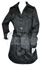Ladies Tie Belt Piped Mac Trench Coat Jacket   Womens Size