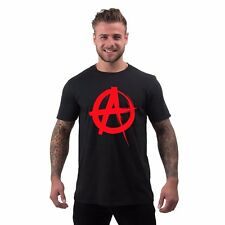 Mens Punk T Shirt Anarchy Activist Anonymous 80s Peace Printed Graphic Tee