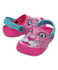 NEW Crocs Pink Leopard Fun Lab Clog Toddler Girls Shoes SZ 9 10 11