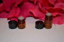 Essential Oil Amber Glass Vials 1ml & 2ml Sample Bottles w/Orifice FREE SHIPPING