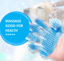 pink / blue Pet Dog Cat Hair Clean Comb Grooming Massage Bath Brush Glove