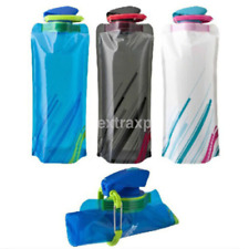 Outdoor 700ml Reusable Foldable Collapsible Bottles Water Flexible BPA Free CA