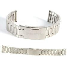 18-22mm Silver Stainless Steel Watch Band Strap Straight End Bracelet Link