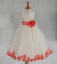 FLOWER GIRL DRESS 12-18M 2 2T 3 3T 4 4T 5 5T 6 6T 7X 8 9 10 11 12 13 14 15 16