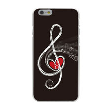 Music Note Symbol Piano Heart Hard Cover Case For iPhone Galaxy Huawei Lenovo