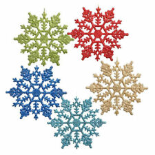 Hot Christmas Glitter Snowflake Ornaments Xmas Tree Hanging Decoration Size 10cm