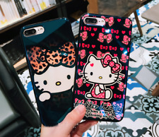 Lovely Hello kitty Glossy Soft TPU case cover Pouch for Apple iPhone 8 & Plus
