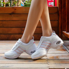 Women Modern Dance Sneakers Soft Net Mesh Breathable Jazz Hip Hop Dancing Shoes