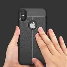 For iPhone X 8 7 6S Plus Thin Soft Silicone Rubber Shockproof Hybrid Case Cover
