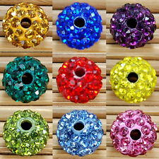 Wholesale Lot 20 Pcs 12MM Round Pave Disco Balls  Crystal Beads