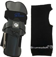 Robbys REVS Bowling Ball Wrist Brace Small - XLarge Right Handed & Wrist Liner