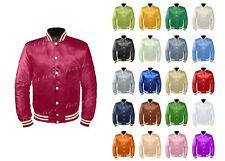 Original American Varsity Letterman College Baseball Bomber Women Satin Jackets