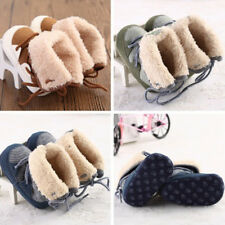 Infant Kids Baby Boys Winter Warm Soft Sole Boots Shoes Fur Lined First Walker