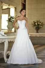 New Stock Chiffon Wedding Dresses Prom/Bridal Gown Stock Size 6 8 10 12 14 16 18