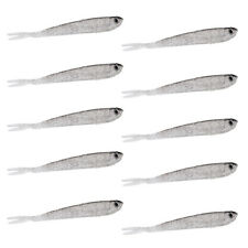 10pcs Artificial Bait Soft Lures Fishing Lure Worm Lures Fishing Tackle