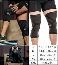 2X Knee Compression Sleeve Support Leg Pain Relief for Running Basketball Brace