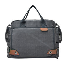 Men's Cross Body Messenger Over Shoulder Canvas Bag for Outdoor Casual