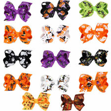 Halloween Girls Stylish Baby Girls Hair Clips Hair Bows Accessories Gifts