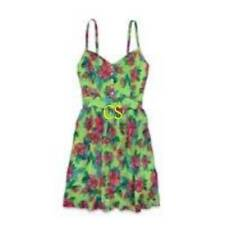 NWT $60-Juniors Girls Hollister Green Floral Beach Sun Dress-size S, M & L