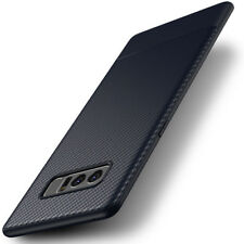 Soft  TPU Slim Carbon Fiber Shockproof Case Back Cover For Samsung Galaxy Note 8