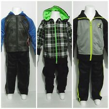 New Boys Hoodie 2pc Outfit Girls Long Sleeves Multi-color