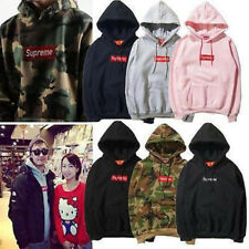 HOT Mens SUPREME Hip Hop Hoodie Embroidered Cotton Sweater Men's Hoodies