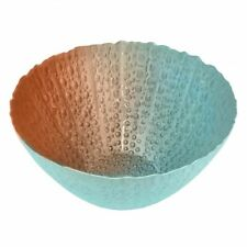 Deep Round Glass Hurricane Bowl Green or Green Blue Copper Large Medium Small
