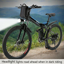 New Mini 26'' Electric Power Outdoor Camping Mountain Bicycle Bike USB 36V LED