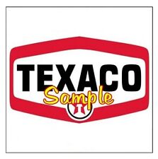 Texaco 'A' Gasoline Vintage Signs Vinyl Sticker Decal Motor Oil Gas Globes