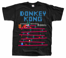 DONKEY KONG Nes T shirt Black Arcade Famicom NINTENDO ALL SIZES S - 5XL