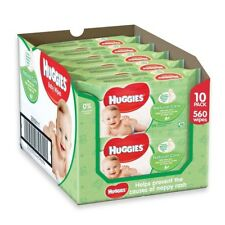 Huggies Range Pure Soft Skin Natural care baby Wipes 10 packs = 560 wipes Total