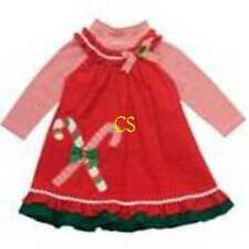 NWT $36-Girls Red Christmas Jumper Dress Set- 3 mths 6 mths 12 mths 24 mths & 2T