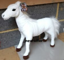 New Large White Brown Horse Soft Cuddly Toy 45 cm Soft Toy Plush UK SELLER