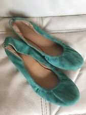 Audrey Brooke  Women US 8.5 Teal Turqouise  Suede Flats