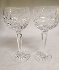 2 Waterford Crystal Glass  Hock Wine Glass Goblet Kildare old mark w cut base