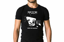 Razor Armed And Dangerous 1984 EP Cover T-Shirt