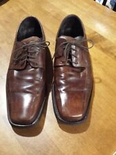 Johnston Murphy STANTON RUN-OFF Brown Square Toe Oxfords Shoes 20 1434 Mens 11M