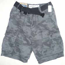 Mens Men's AEROPOSTALE Belted Camo Cargo Shorts size 28 NWT #0803