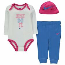 Nike Tracksuit & Hat Gift Set Baby Girls Romper Size 3-6 6-9 9-12 Months New