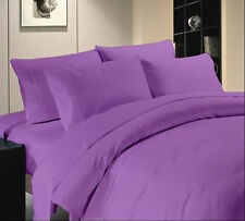 LILAC SOLID 1000 TC EGYPTIAN COTTON BED DUVET SET/FITTED SHEET/SHEET SET