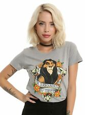 Women's Disney The Lion King Tee Shirt Blouse Top T-Shirt Scar Idiots, XS - 3X