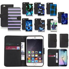 black pu leather wallet case cover for popular mobiles design ref a02