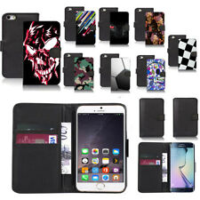 black pu leather wallet case cover for popular mobiles design ref a48