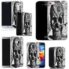 silicone case cover for majority Mobile phones - black periodical skull silicone