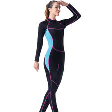 Women 3mm Neoprene Full Length Wetsuit Surf Scuba Diving Snorkeling Wet Suit