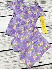 Girls Disney Fairies Tinker Bell Pajamas Set TINK Purple 2 Piece Sleepwear